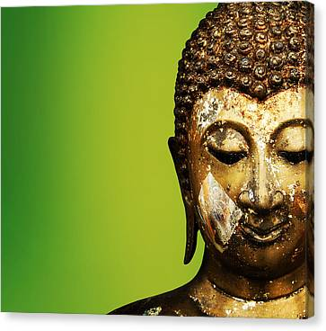 Buddha Portrait  Canvas Print by Thanes