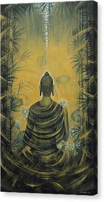 Buddha. Presence Canvas Print by Vrindavan Das