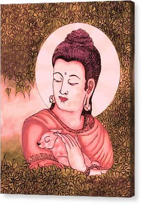 Buddha Red  Canvas Print by Loganathan E