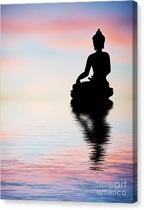 Buddha Reflection Canvas Print by Tim Gainey