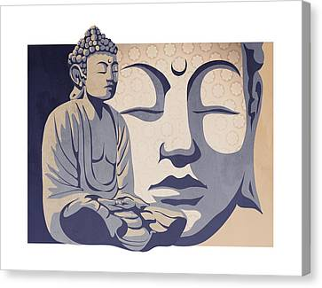 Buddhist Canvas Print - Buddha by Sassan Filsoof