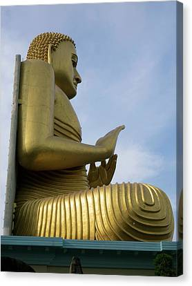 Golden Temple Canvas Print - Buddha Statue Atop Golden Temple Museum by Panoramic Images
