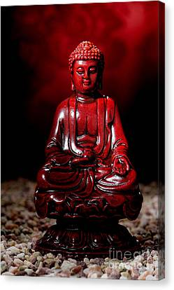 Buddha Statue Figurine Canvas Print by Olivier Le Queinec