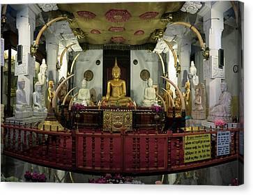 Buddha Statues In Sri Dalada Maligawa Canvas Print by Panoramic Images