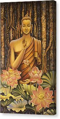 Buddha Canvas Print by Vrindavan Das