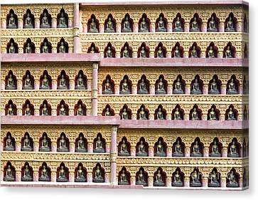 Tibetan Canvas Print - Buddha Wall by Tim Gainey