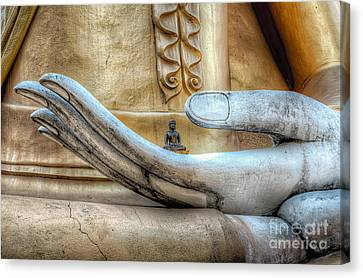 Thai Canvas Print - Buddha's Hand by Adrian Evans