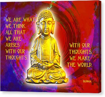 Canvas Print featuring the photograph Buddha's Thoughts 2 by Ginny Gaura