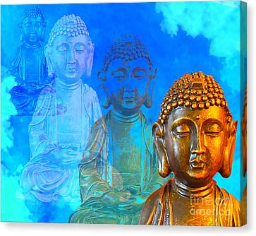 Buddha's Thoughts Canvas Print by Ginny Gaura