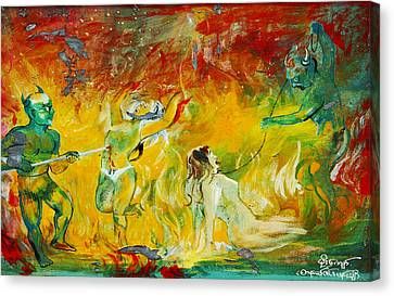 Buddhist Hell Canvas Print by RicardMN Photography