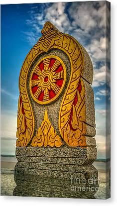 Buddhist Icon Canvas Print by Adrian Evans