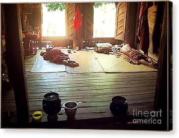 Buddhist Monastery Inside Canvas Print