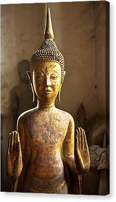Buddhist Statues G - Photograph By Jo Ann Tomaselli  Canvas Print