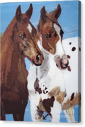 Buddies Canvas Print by Lucia Grilletto