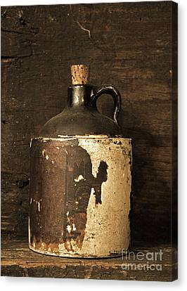 Buddy Bear Moonshine Jug Canvas Print