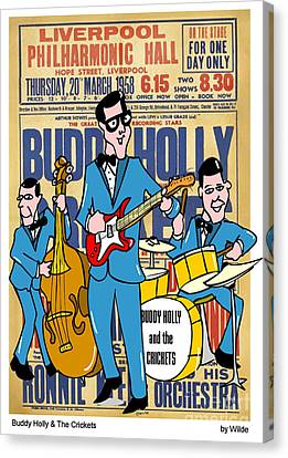 Cricket Canvas Print - Buddy Holly And The Crickets In The Uk by Paul Wilde