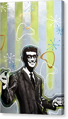 Buddy Holly Canvas Print by Erica Falke