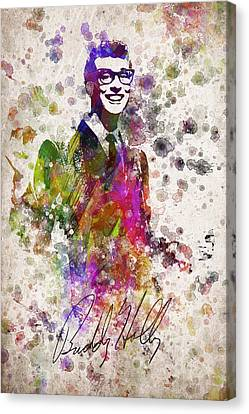 Buddy Holly In Color Canvas Print by Aged Pixel