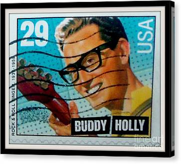 Buddy Holly Postage Stamp Usa Canvas Print