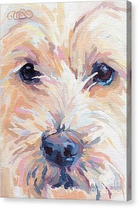 Blonde Canvas Print - Buddy by Kimberly Santini