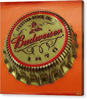 Budweiser Cap Canvas Print by Tony Rubino