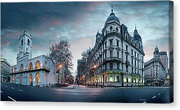 Buenos Aires Canvas Print - Buenos Aires Cabildo On Plaza De Mayo by Panoramic Images