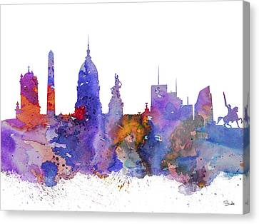 Buenos Aires Canvas Print - Buenos Aires by Watercolor Girl