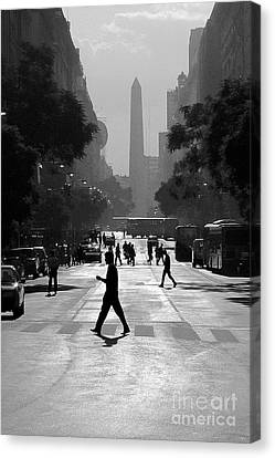 Canvas Print featuring the photograph Buenos Aires Obelisk II by Bernardo Galmarini