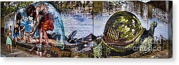 Buenos Aires Canvas Print - Buenos Aires Street Art With Girl by David Smith