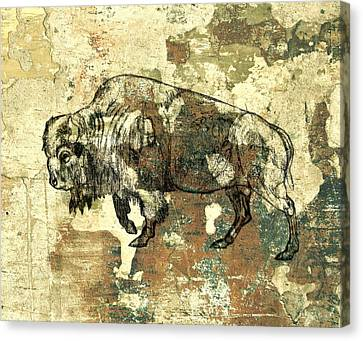 Canvas Print featuring the photograph Buffalo 7 by Larry Campbell