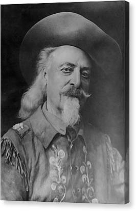 Canvas Print featuring the photograph Buffalo Bill Cody by Charles Beeler