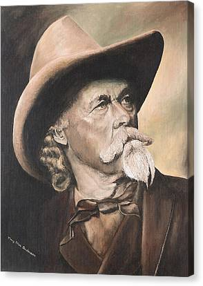 Canvas Print featuring the painting Buffalo Bill Cody by Mary Ellen Anderson