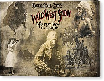 The Horse Canvas Print - Buffalo Bill Wild West Show by Daniel Hagerman