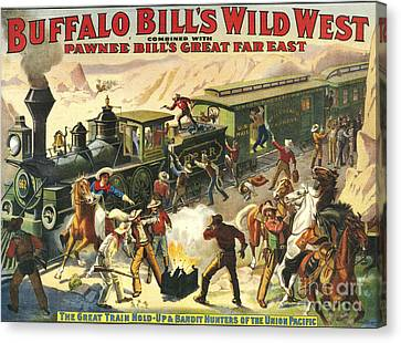 Buffalo Bill's Wild West Show  1907 Canvas Print by The Advertising Archives