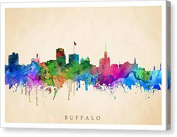 Buffalo Cityscape Canvas Print