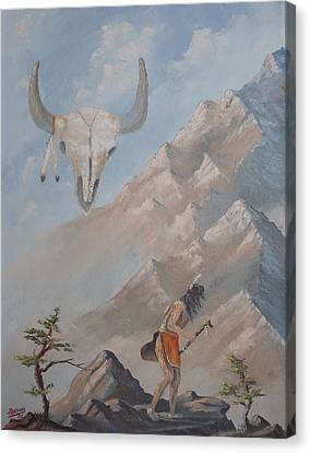 Canvas Print featuring the painting Buffalo Dancer by Richard Faulkner