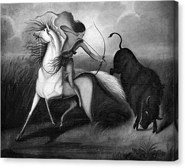 Buffalo Hunt, C1844 Canvas Print by Granger