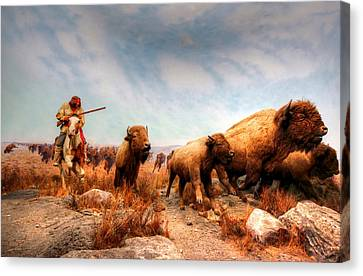 Buffalo Hunt Canvas Print by Larry Trupp