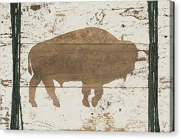 Buffalo In Reverse Canvas Print by Ramona Murdock
