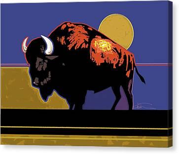 Buffalo Moon Canvas Print