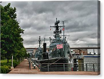 Buffalo Naval And Military Park Canvas Print by Guy Whiteley