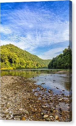 Buffalo River Details Canvas Print by Bill Tiepelman