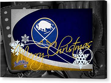 Skates Canvas Print - Buffalo Sabres Christmas by Joe Hamilton