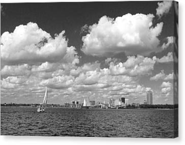Canvas Print featuring the photograph Buffalo Skyline by Cindy Haggerty