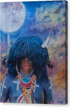 Buffalo Snow Moon Prayers Canvas Print