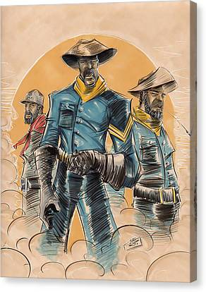 Black People Canvas Print - Buffalo Soldiers by Tu-Kwon Thomas