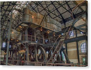 Buffalo Water Pumping Station Canvas Print by Guy Whiteley