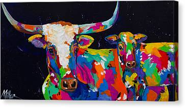 Buffalo's Gals Canvas Print by Tracy Miller