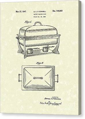 Buffet Dish 1947 Patent Art Canvas Print