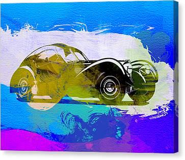 Bugatti Atlantic Watercolor 2 Canvas Print by Naxart Studio